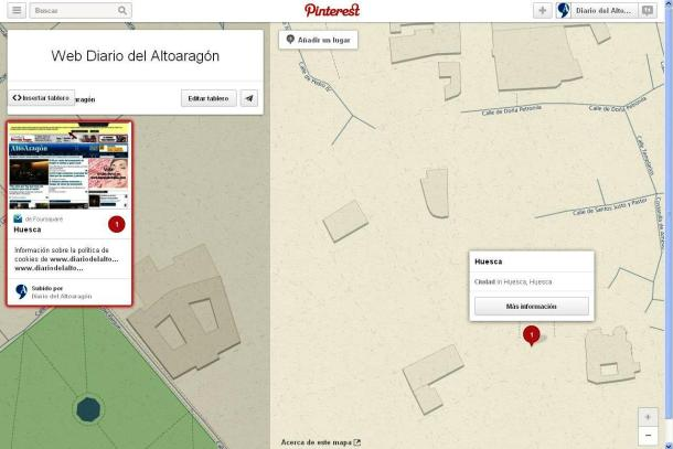 Pinterest añade mapas de localización de tableros